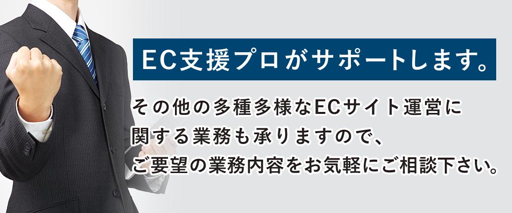 その他の多種多様なECサイト運営に関する業務も承りますので、ご要望の業務内容をお気軽にご相談下さい。
